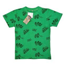 تیشرت پسرانه طرح عروسکی ماشین سبز